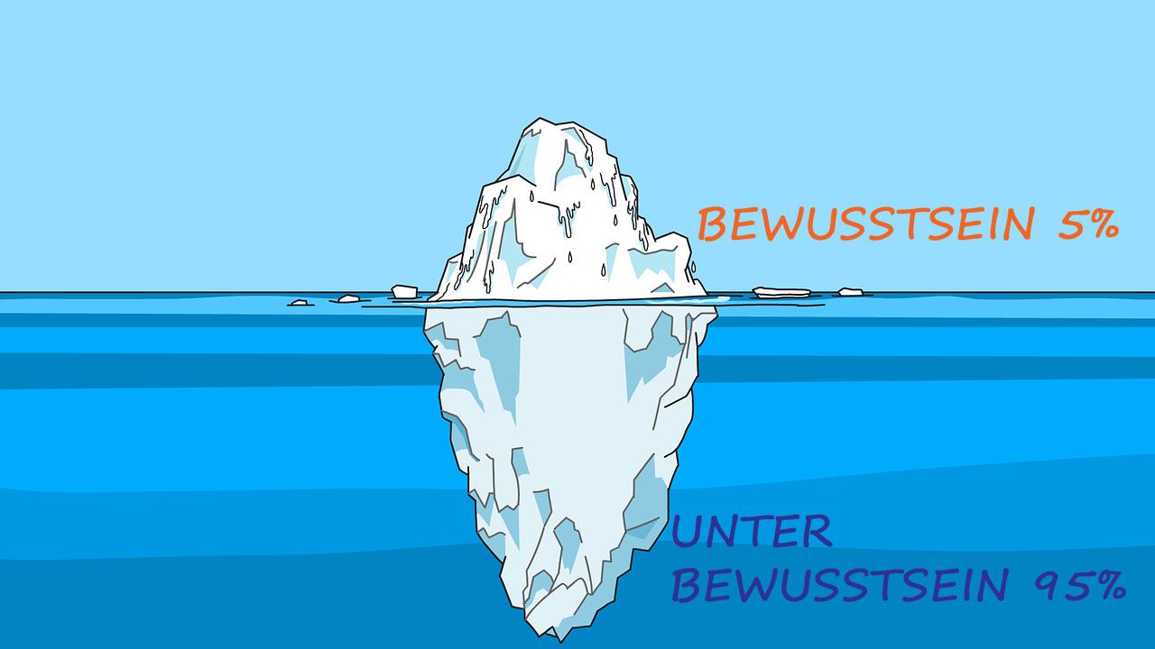 Unterbewusstsein Eisbergmodell